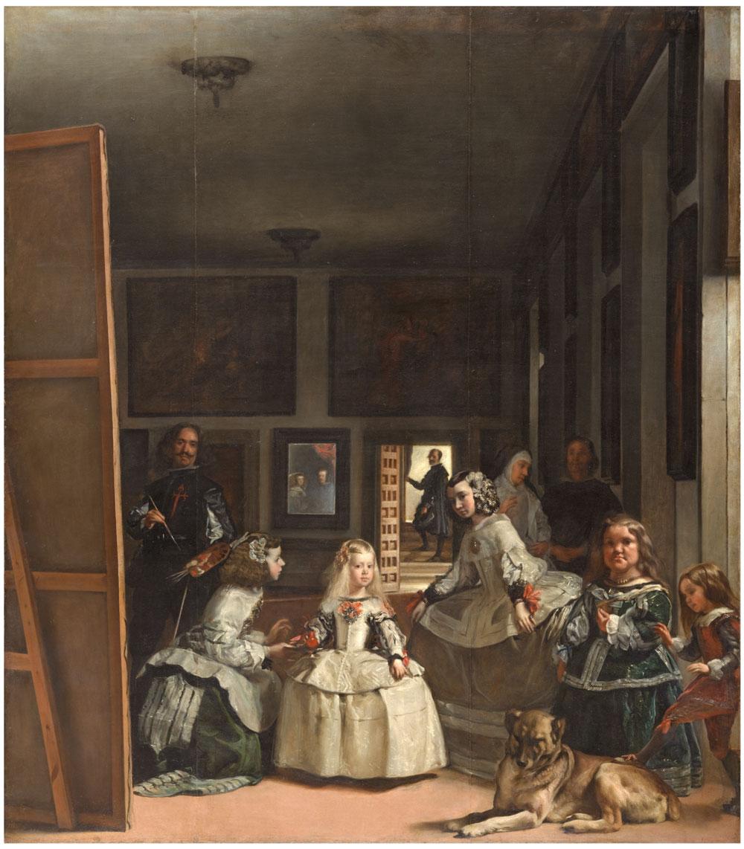 Diego Velázquez, Las Meninas, olio su tela, 1656 (Madrid, Museo del Prado)